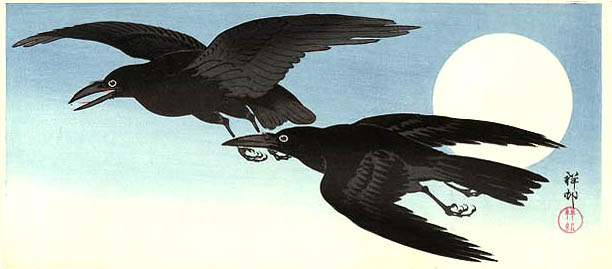 Crows and Moon by Ohara Koson, 1930 (1)